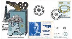 """PE186 : 1989 - FDC Parlement européen """"Élections Européennes / HILLERY"""