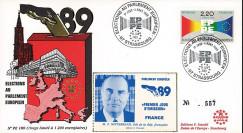 """PE180 : 1989 - FDC Parlement européen """"Élections Européennes / MITTERRAND"""