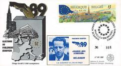 """PE188E : 1989 - FDC Parlement européen """"Élections Européennes / BAUDOUIN 1er"""