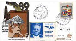"""PE181 : 1989 - FDC Parlement européen """"Élections Européennes / M. SOARES"""
