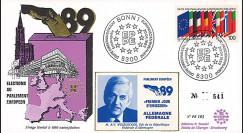 """PE183 : 1989 - FDC Parlement européen """"Élections Européennes / WEIZSÄCKER"""