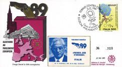 """PE189 : 1989 - FDC Parlement européen """"Élections Européennes / M. COSSIGA"""