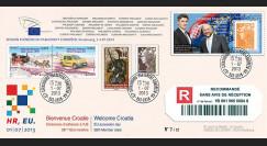 """PE649a : 2013 - FDC RECO Parlement eur. """"Adhésion de la Croatie à l'UE - M. MILANOVIC"""""""