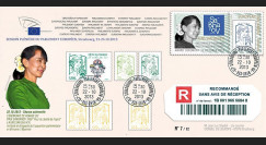 "PE652a : 2013 - FDC Reco Parlement eur. ""Prix SAKHAROV - AUNG SAN SUU KYI"
