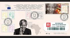 PE654a : 2013 - FDC Reco Parlement européen 'Hommage Nelson MANDELA