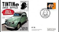 TIN14-2 : 2014 - Belgique FDC 1er Jour Tintin & Dupondt / Citroën 2 CV / Affaire Tournesol