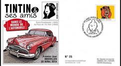 """TIN14-4 : 2014 - Belgique FDC 1er Jour """"Tintin & Abdallah / Buick / Au Pays de l'Or Noir"""""""