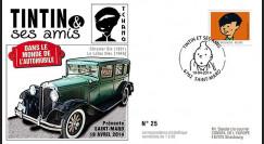 """TIN14-9 : 2014 - Belgique FDC 1er Jour """"Tintin & Tchang / Chrysler Six / Le Lotus Bleu"""""""