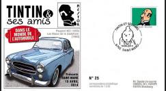 TIN14-10 : 2014 - Belgique FDC 1er Jour Tintin & Nestor / Peugeot 403 / Bijoux Castafiore