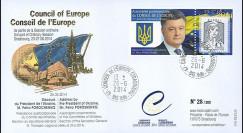 "CE65-IIIA : 06-2014 - FDC Conseil Europe ""Visite M. Petro POROCHENKO"
