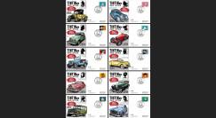 TIN14-1/10 : 2014 - Belgique série 10 FDC Tintin & ses amis dans le monde de l'automobile