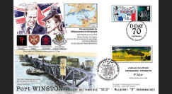 "DEB14-08 : Maxi FDC FRANCE-ROYAUME-UNI ""70 ans D-DAY / WILLIAM & Kate MIDDLETON"""
