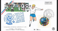 "FIFA98-1 : FDC FRANCE 1er Jour ""FIFA Coupe du Monde 1998 France / Football - FOOTIX"""
