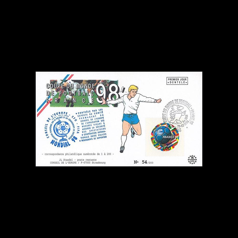 "FIFA98-1 : FDC FRANCE 1er Jour ""FIFA Coupe du Monde 1998 France / Football - FOOTIX"""