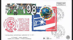 "FIFA98-2 : FDC FRANCE 1er Jour ""FIFA Coupe du Monde 1998 France / Football - FOOTIX"""