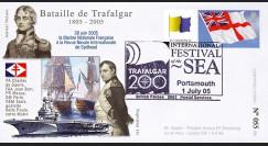 """TRA05-3 : 2005 - FDC """"200 ans Bataille de Trafalgar"""" - oblit. Poste aux Armées type3"""