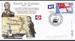 """TRA05-4 : 2005 - FDC """"200 ans Bataille de Trafalgar"""" - oblit. Poste aux Armées type4"""