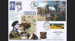 "DEB14-12 : 2014 - Maxi FDC FRANCE - JERSEY ""70 ans D-DAY / Commando KIEFFER - SWORD BEACH"""