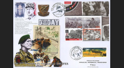 "DEB14-13 : 2014 - Maxi FDC FRANCE - ILE DE MAN ""70 ans D-DAY - Commando KIEFFER"""