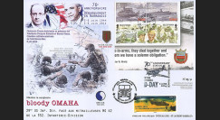 "DEB14-14 : 2014 - Maxi FDC FRANCE - ILE DE MAN ""70 ans D-DAY : HOLLANDE & OBAMA"""