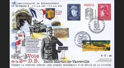 """DEB14-20 : 2014 - Maxi FDC """"70 ans D-DAY - UTAH BEACH / DE GAULLE & LECLERC - 2e DB"""""""
