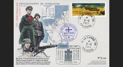 """DEB14-12 : 2014 - FDC """"70 ans D-DAY : Cimetière Militaire allemand La Cambe - ROMMEL"""""""