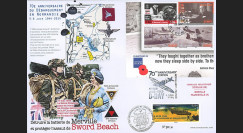 "DEB14-21 : 2014 - Maxi FDC FRANCE-ILE DE MAN ""70 ans D-DAY / ELIZABETH - 6th Airborne"""