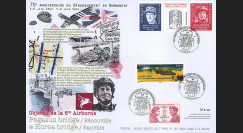 "DEB14-22 : 2014 - Maxi FDC ""70 ans D-DAY / DE GAULLE & Major HOWARD"