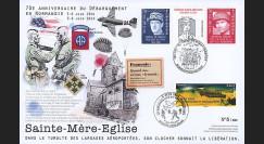 """DEB14-14 : 2014 - Maxi FDC """"70 ans D-DAY / DE GAULLE & GAVIN"""