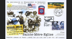 "DEB14-15 : 2014 - Maxi FDC FRANCE - JERSEY ""70 ans D-DAY / 82nd Airborne"