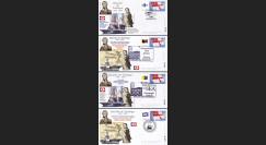 "TRA05-COL : 2005 - Série 4 FDC ""Bicentenaire de la Bataille de Trafalgar"""