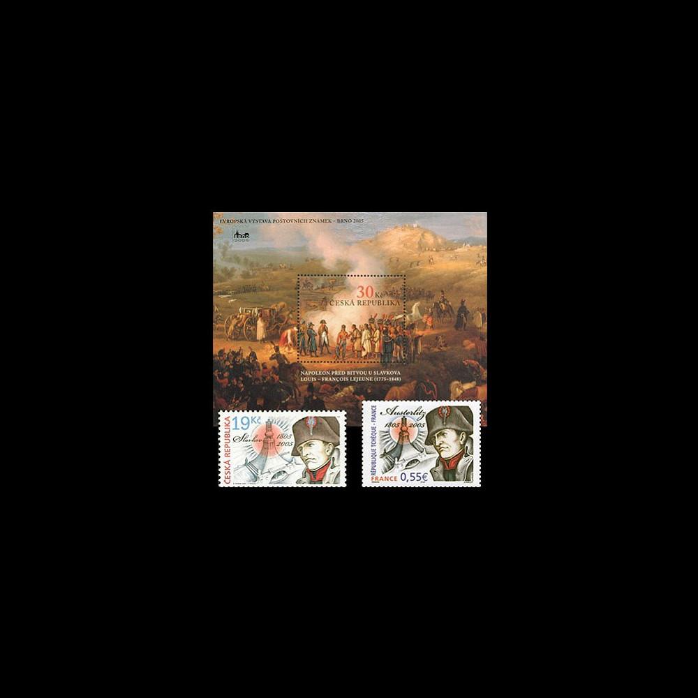 AUS05-1N : 2005 - Emission commune France - Rép. Tchèque Napoléon