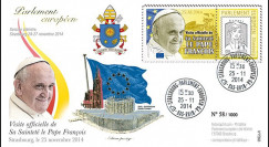 """PE666 : 25.11.2014 - FDC Parlement européen """"Visite officielle de S.S. le Pape François"""""""