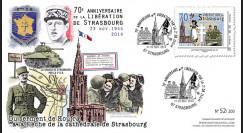 """LIB14-STR1 : 2014 - FDC 1er Jour """"de Gaulle - Leclerc"""