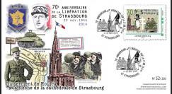 """LIB14-STR2 : 2014 - FDC 1er Jour """"de Gaulle - Leclerc"""