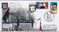"""LIB04-S1 : 2004 - FDC """"60 ans de la Libération de Strasbourg par la 2e DB - Leclerc"""""""