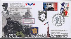 "LIB04-S2 : 2004 - FDC ""60 ans Libération de Strasbourg par la 2e DB - Leclerc"" Benfeld"