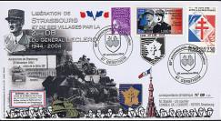 """LIB04-S3 : 2004 - FDC """"60 ans Libération de Strasbourg par la 2e DB - Leclerc"""" Gerstheim"""