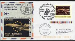 PE510 : 2005 - FDC Vol pour la Paix Wien - Sarajevo (Autriche)