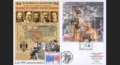 "CENT14-02 : 2014 - Maxi-FDC Autriche-France ""Centenaire 14-18 / Attentat de Sarajevo"""