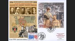"CENT14-03 : 2014 - Maxi-FDC Autriche-France ""Centenaire 14-18 / Attentat de Sarajevo"""