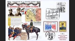 """CENT14-04 : 2014 Maxi-FDC France-Allemagne """"Centenaire 14-18 / Déclaration de Guerre"""""""