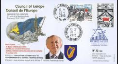 "CE66-IB : 01-2015 - FDC Conseil de l'Europe ""70 ans Libération Auschwitz Birkenau"""