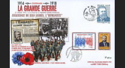 "CENT14-18 : Maxi FDC FRANCE ""100 ans Grande Guerre - Assassinat de Jean JAURES"""
