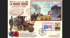 """CENT14-16 : 2014 - Maxi FDC """"100 ans Grande Guerre - Départ Taxis de la Marne"""" (Paris)"""