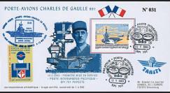 """PADG03T5 : 2003 - FDC """"1er Jour TP Porte-avions de Gaulle"""" Papeete"""