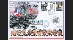 """PE671B : 2015 - Maxi FDC """"Marche Républicaine - NOUS SOMMES TOUS CHARLIE / Police"""""""
