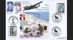 "DEB14-29 : 2014 - Maxi FDC ""70 ans D-DAY - DE GAULLE / Avion Bombardier Mitchell B-25"""
