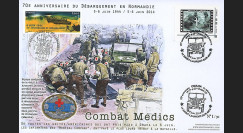 """DEB14-32 : 2014 - Maxi FDC """"70 ans D-DAY / JEEP WILLYS - Combat des unités médicales"""""""