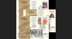 ARM88-1/3 : 1988 - 3 FDC Tremblement de terre en Arménie Soviétique